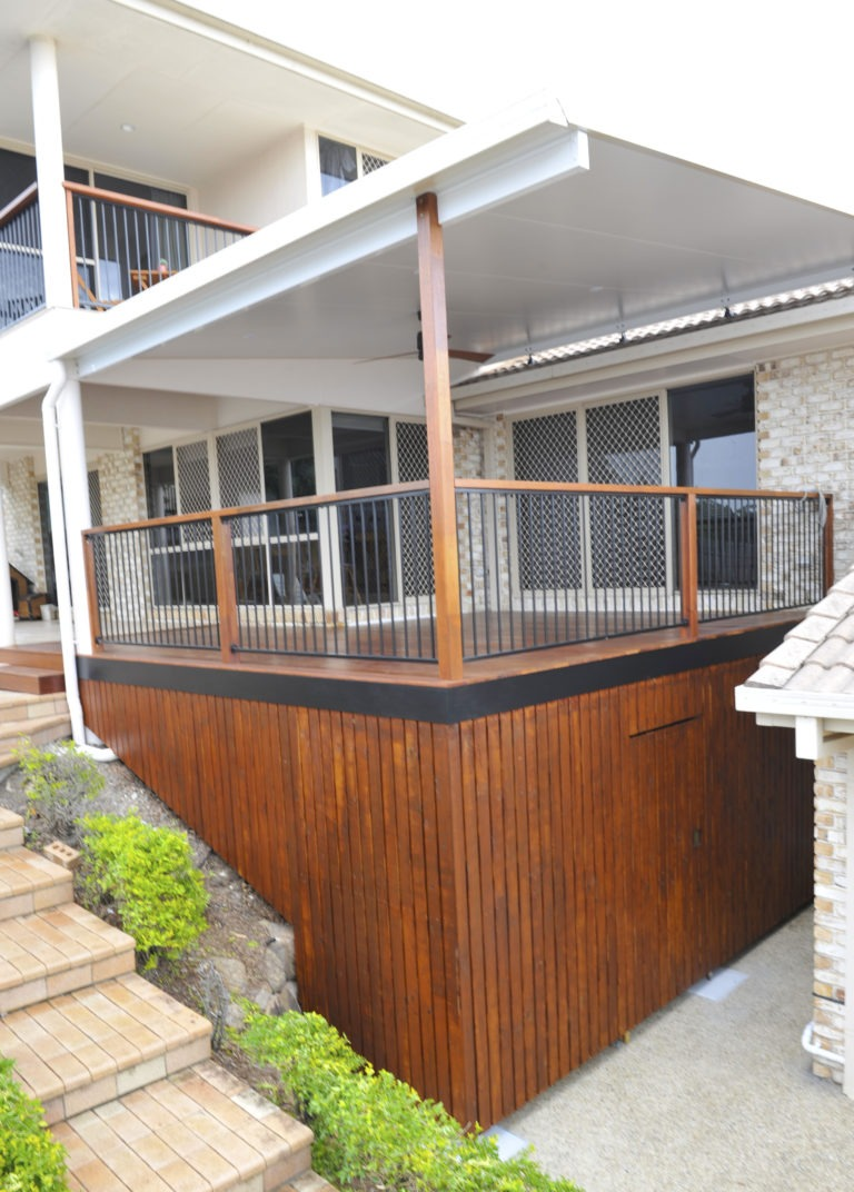 Recently Built Home Balcony