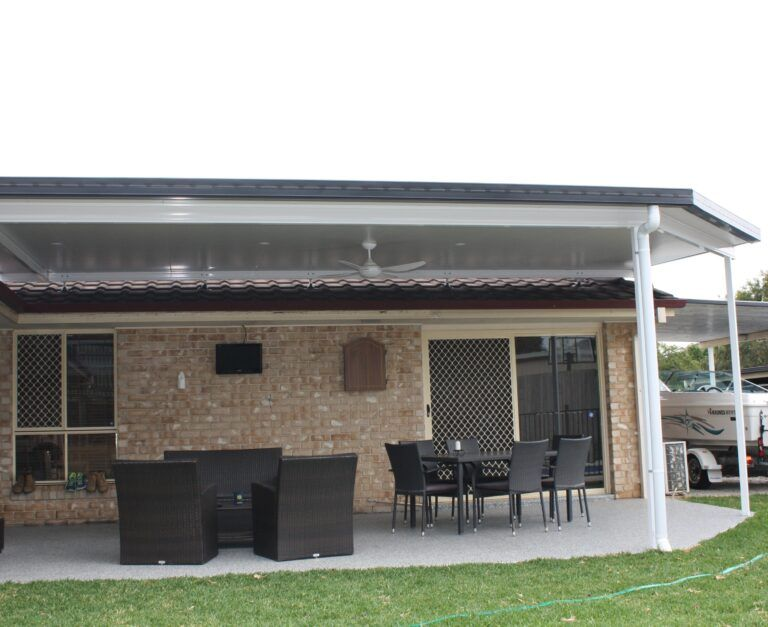 Recently Built Home Outdoor Dining Space