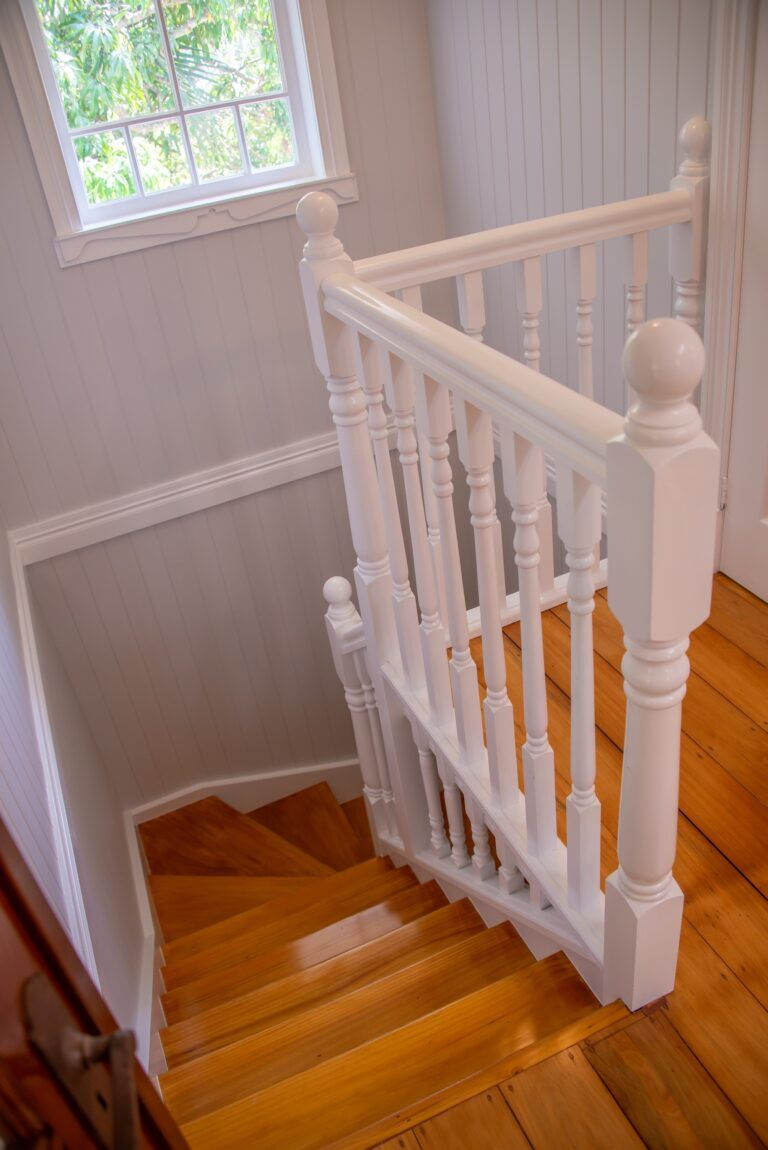 Chelmer Home Build Stairs Viewed from Top Floor