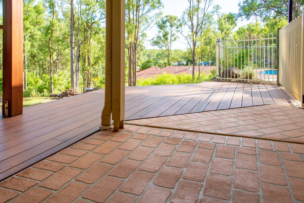 A Natural Looking Deck Extension