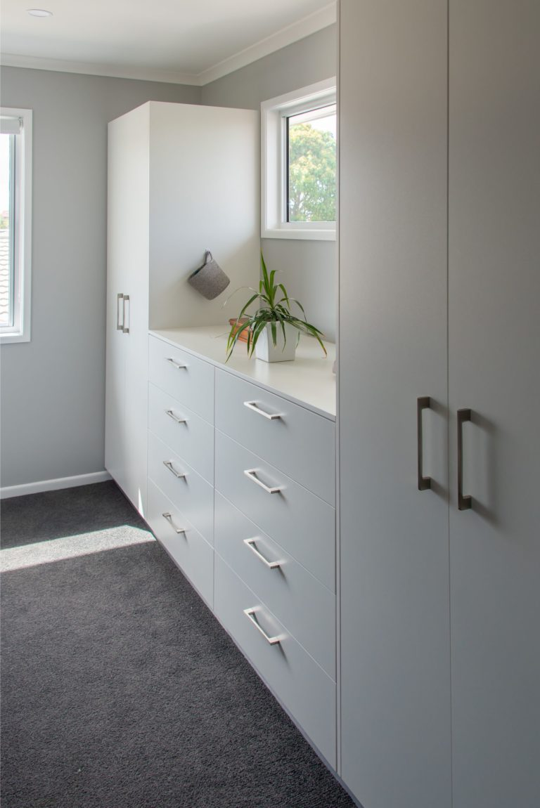 Bribie Island bathroom renovation linen press