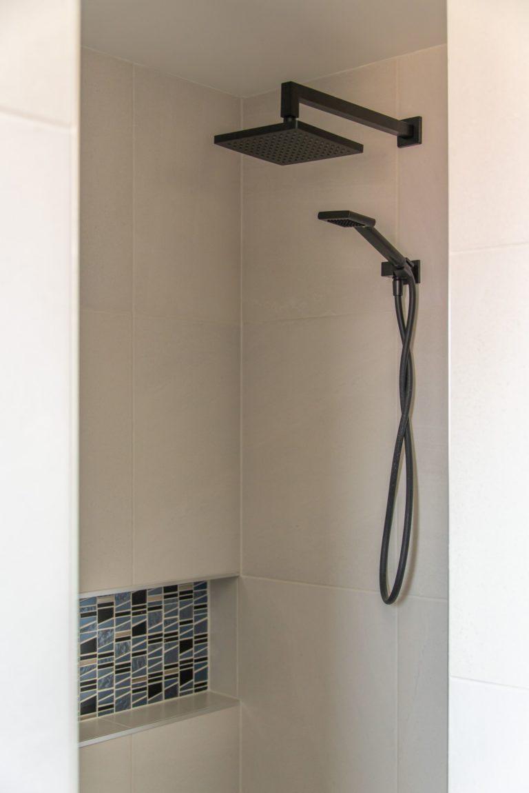 Bribie Island bathroom renovation modern shower head
