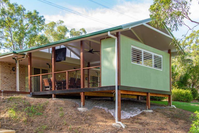 Warner Deck Extension Raised Above Ground